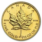 1994 Canada 2 1/15oz 24k Pure Gold Maple Leaf Coin Rare Only 3450 Minted Sealed