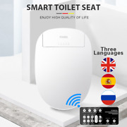 Smart Toilet Seat Electric Bidet Cover Heated Led Light Wc Lid High Quality Item