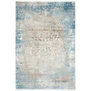 Mda Home Andros 5'x8' Abstract Transitional Fabric Area Rug In White/blue