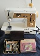 Singer Touch And Sew 635 Vintage Working With Many Extras Read Description