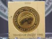 1987 50 Perth 1/2oz Gold Hand Of Faith Nugget East Coast Coin And Collectables
