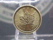 2015 10 1/4 Oz Gold Canadian Maple Leaf Sealed East Coast Coin And Collectables