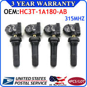 4pcs Hc3z1a189a Oem For Ford Fusion Lincoln Tire Pressure Monitoring Tpms Sensor