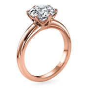 Msrp 8000 1.35 Ct Solitaire Diamond Engagement Ring Rose Gold Si2 00350897