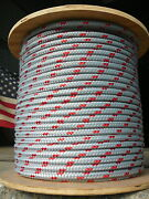 Novatech Xle Halyard Sheet Line Dacron Sailboat Rope 1/2 X 106and039 Silver/red