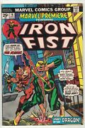 Marvel Premiere 16 - 2nd App Of Iron Fist - Gil Kane Cover - Marvel Comics/1974