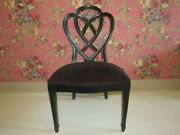 Ethan Allen Collector's Classic Heplewhite Black Ribbonback Accent Chair 13 6200