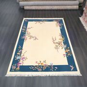 Yilong 6and039x9and039 Handknotted Chinese Art Deco Wool Rug Antistatic Indoor Carpets
