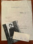 Madame Chiang Kai-shek Signed Slip First Lady Of China Taiwan And Official Ltr.