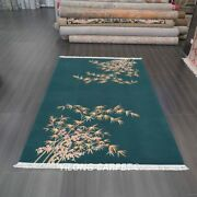 Yilong 6and039x9and039 Bamboo Pattern Handknotted Chinese Art Deco Wool Rug Indoor Carpets