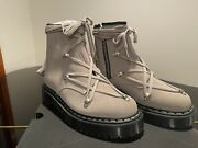 Rick Owens X Doc Martens 1460 Bex Ro Lace Up Boot Size 8us /7 Uk Light Taupe