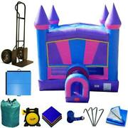 Commercial Inflatable Bounce House Package Modular Pink Purple Jumping Castle