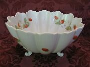 Limoges Castel China 8-1/2 Round Footed Strawberry Bowl - Excellent