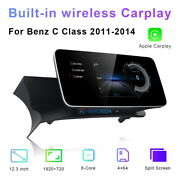 12.3 Android Car Stereo Gps For Mercedes Benz C Class W204 2011-2014 Multimedia