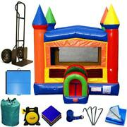 Commercial Inflatable Bounce House Package Kids Modular Rainbow Jumping Castle