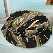 Great Special Force Tiger Stripe Boonie Short Brim Hat Us Size 7 1/4