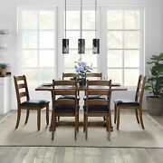 Dining Room Table Set Modern Farmhouse Kitchen Table And Chairs Set 7 Piece