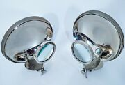 Pair Of Antique Early 1900and039s Parabolic Candle Reflector Wall Sconce - Rare