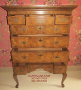 Baker Furniture Cabinet Makers High Boy Cabriole Legs No 1660 9 Drawer Chest