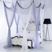 8 Doors Curtain Bed Canopy Mosquito Net Double Colors Curtain Princess Tent Home