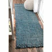 Nuloom Hand Woven Chunky Natural Jute Farmhouse Assorted Sizes Colors