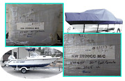 Key West 20and039 Full Boat Cover 2005 Kw 2020cc M/c Ctr. Console W/ Bow Rails New