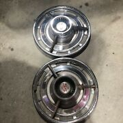 1963 Chevy Impala Ss Hubcaps Pair Of Two