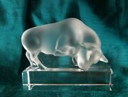 Lalique Bull Crystal Figurine 5 Long Made In France Hand 1931