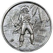 Elemental Mint Privateer 2 Oz Silver - The Captain Coin