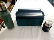 Vintage Stanley Aladdin Cooler And 2 Thermos Combo Lunch Box Built Tough