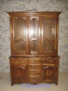 Ethan Allen China Cabinet Hutch Country French Lighted Interior 26 6307 236
