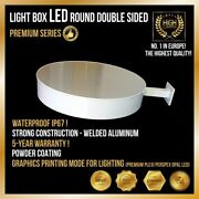 Double-sided Round Light Box 100cm Premium Series Top 1 In Europe Sign