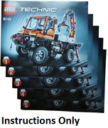New Instructions Only Lego Mercedes-benz Unimog U400 8110 Technic Books From Set