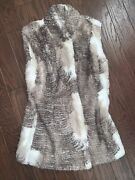 New Nwt Cabi Fur Vest Size Xs Style 3179