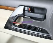 Real Carbon Fiber Door Panel Cover Trim For Toyota Land Cruiser Lc200 2008-2021