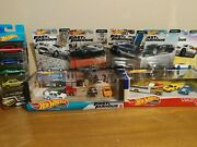 Hot Wheels Fast And Furious Diaroma + Pony Wars + Euro Fast 1-5 Set + 5 Pack Set