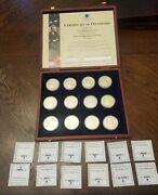 2011 American Mint Life Of Abraham Lincoln Coin Collection Set Of 12 Rm128