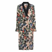New Womens Lily And Lionel Long Kimono Jacket Dress Vintage Floral Size Large