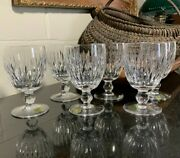 6 Waterford Crystal 5 1/4 Maureen Water Goblets Ireland - Pristine In The Box