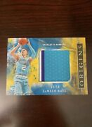 Lamelo Ball Origins Rookie Card /10 Jumbo Patch Rookie Of The Year