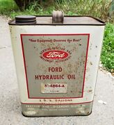 Vintage 2 Gallon Ford Tractor Hydraulic Oil Can Ford Motor Gas Sign Auto Farm