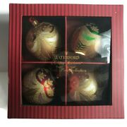 Waterford Holiday Heirlooms North Pole Collection Set Of 4 Christmas Ornaments