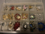 Massive Vintage Brooch Lot- Some Signed Some Not- Coro, Sarah Conventry, Etc.