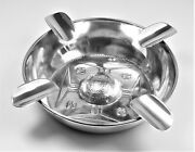 Ash Tray Exceptional Christ Cross Solid Silver – 19th Century