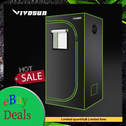 Vivosun 24x24x48 Mylar Hydroponic Grow Tent For Indoor Plant Growing 2and039x2and039