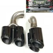Rear Exhaust Tips Tail Pipe Ends Fit For Porsche Cayenne V6 2011 2012 2013 2014