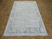 6'1 X 9'4 Hand Knotted Gray Modern Oushak Oriental Rug G10415
