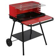 Bbq Grill With Wheels Barbecue Grill Rack Hamburger For Steak Chicken Breast