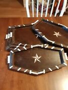 Antique Anglo-indian Set Of5 Stacking Wood Trays W/bone Inlays.likely Rosewood