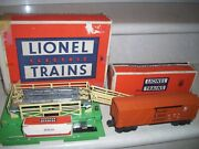 Lionel 3656 Operating Cattle Car And Corral With Original Box.